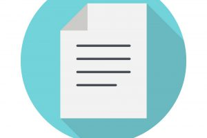 Document flat icon. Business concept
